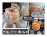 Himalaya zout waxinelichthouder   Set 3 stuks_