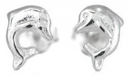 Sterling Silver Dolphin Stud Earring