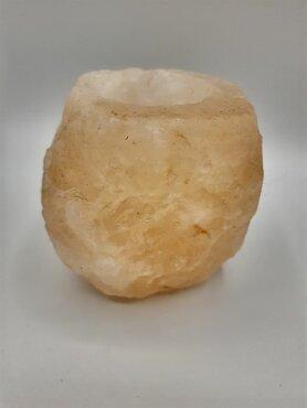 Himalaya zout waxinelichthouder   Set 3 stuks