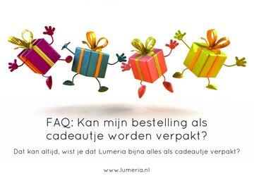 Vraag: Kan mijn bestelling als cadeautje worden verpakt?
