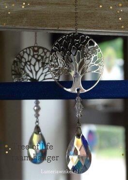 Tree of life kristallen raamhanger wit