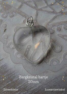 Edelsteen harthanger 20 mm Bergkristal