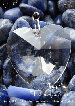 Feng Shui regenboog Hanger hartje 3 cm