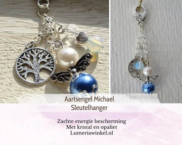Aartsengel Michael Sleutelhanger