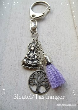 sleutelhanger  Kwan Yin tree of life