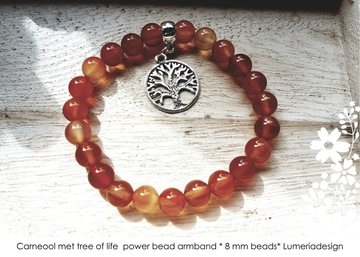 Carneool armband met Tree of life