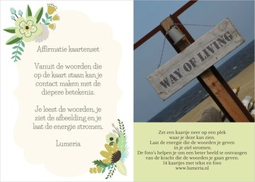 Affirmatie kaartenset Lumeria set 1