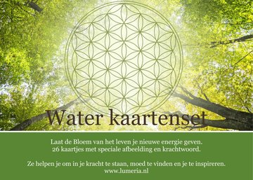 Bloem van het Leven waterkaarten - Vernieuwde set