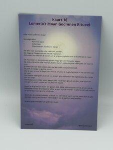 Lumeria kaart 18 Maangodinnen ritueel