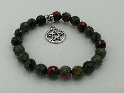 Drakenbloed steen armband met bedel