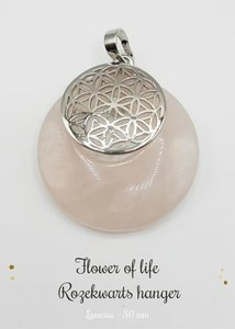Rozekwarts hanger Flower of Life