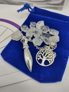 Pendel Zilverkleur met tree of life