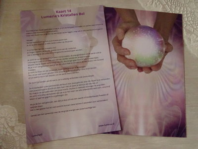 Lumeriakaart 14 Kristallen bol