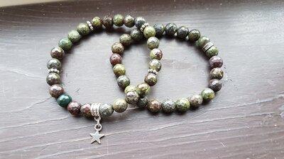 Drakenbloed steen armband