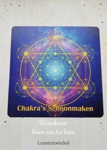 Kaart Chakra's schoonmaken Bloem van het leven Waterkaart