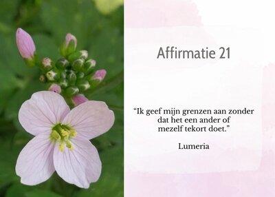 Affirmatie 21