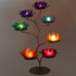 Lotus waxine licht display met 7 chakra lotussen_